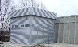 Prefabbricato impianto di depurazione dell'acqua
