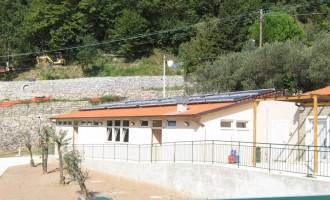 Strutture Sportive - Spogliatoio pannelli solari