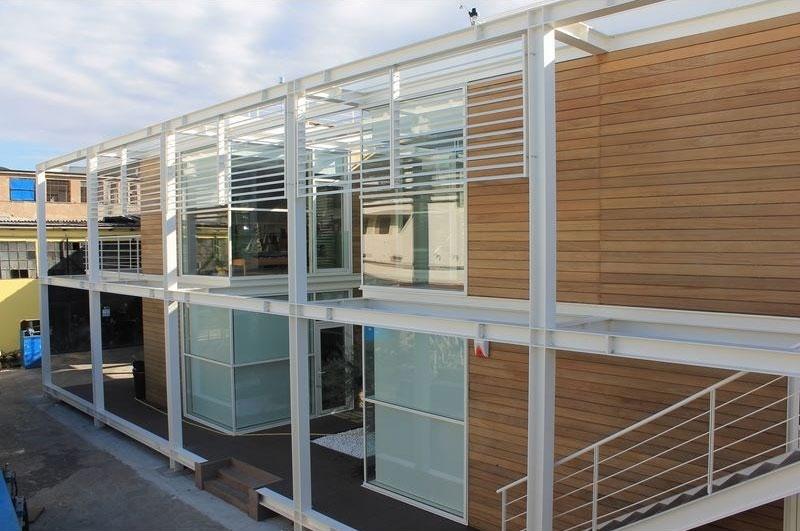 Uffici interni ed esterni fiocchi box prefabbricati spa for Piani di capannone per uffici esterni