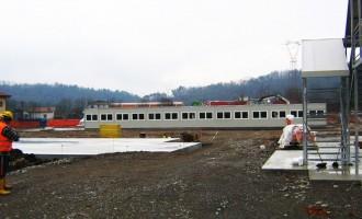 Campi lavoro prefabbricati - Costruzione ferrovia Arcisate-Stabio