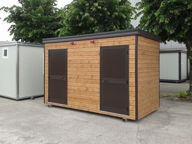 Negozi In Legno Prefabbricati : Monoblocchi prefabbricati rivestiti in legno fiocchi box