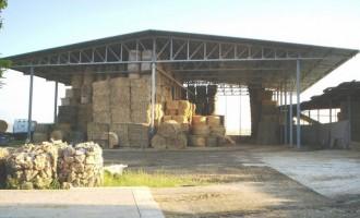 Copertura ad uso agricolo per ricovero foraggi